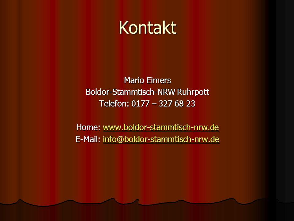 Kontakt Mario Eimers Boldor-Stammtisch-NRW Ruhrpott
