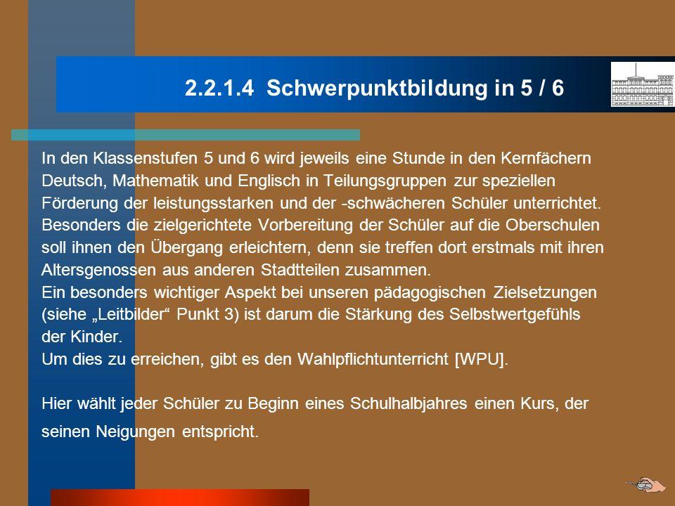 2.2.1.4 Schwerpunktbildung in 5 / 6