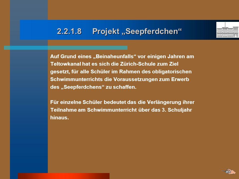 """2.2.1.8 Projekt """"Seepferdchen"""