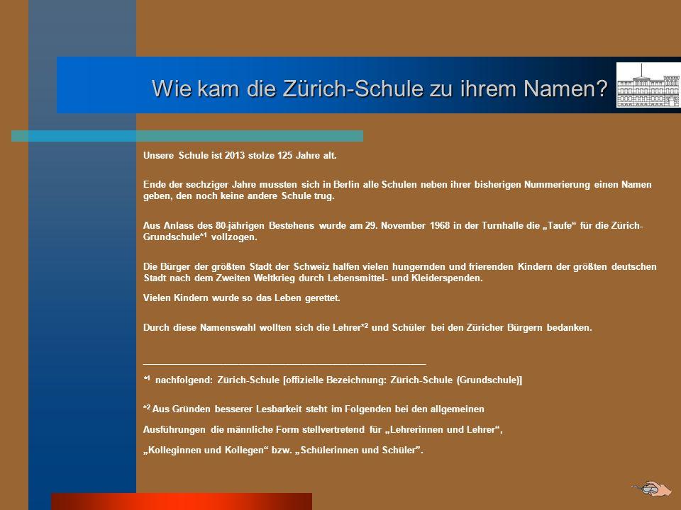 Wie kam die Zürich-Schule zu ihrem Namen