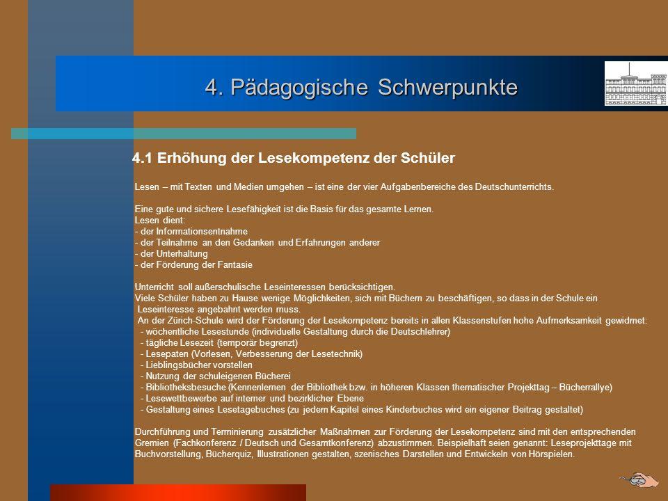 4. Pädagogische Schwerpunkte