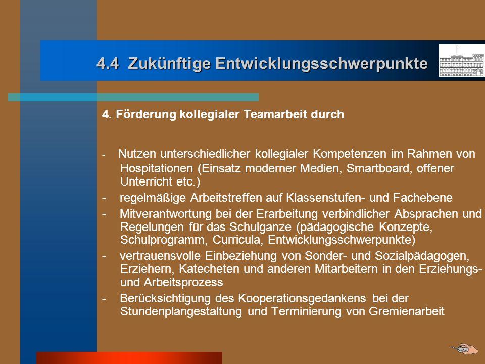 4.4 Zukünftige Entwicklungsschwerpunkte