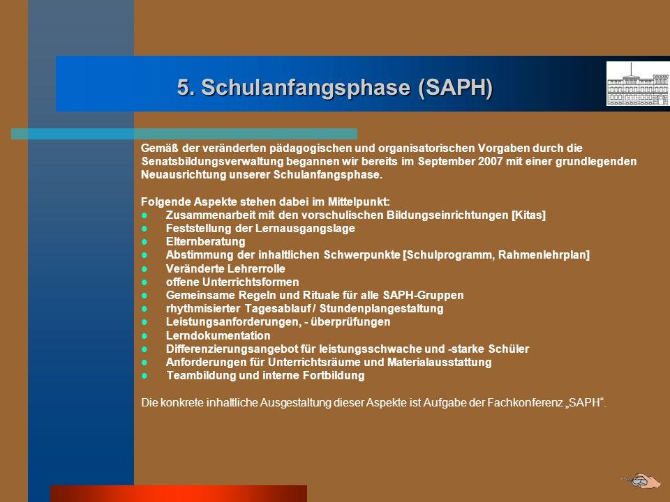 5. Schulanfangsphase (SAPH)