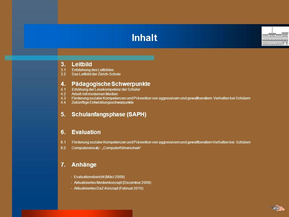 Inhalt 3. Leitbild 4. Pädagogische Schwerpunkte