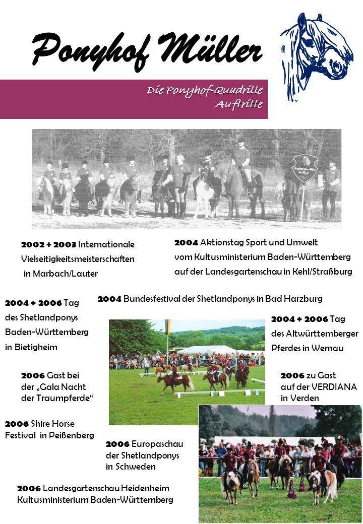 Die Ponyhof-Quadrille Auftritte