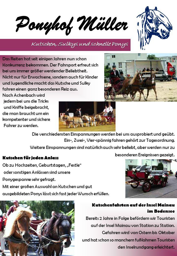 Kutschen, Sulkys und schnelle Ponys