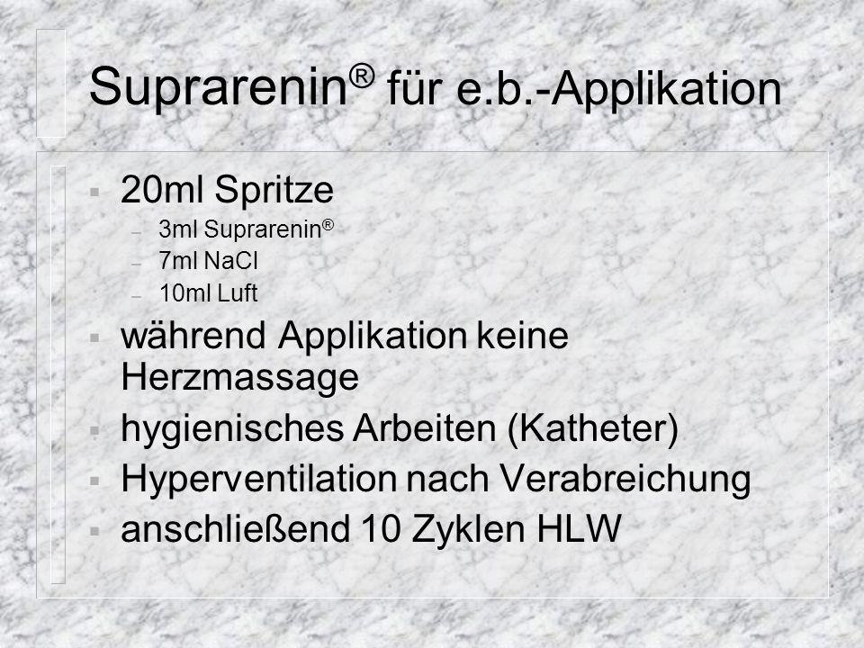 Suprarenin® für e.b.-Applikation