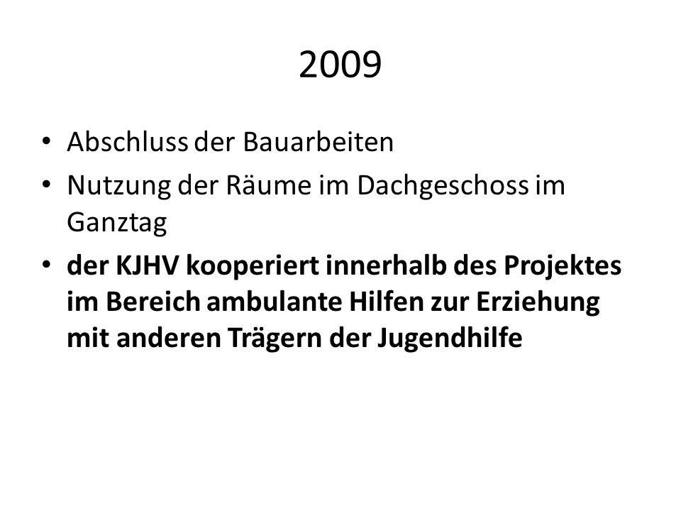 2009 Abschluss der Bauarbeiten