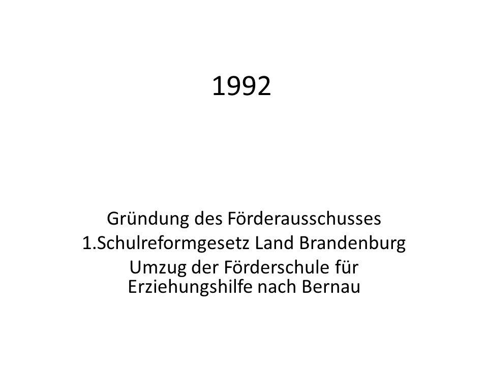 1992 Gründung des Förderausschusses