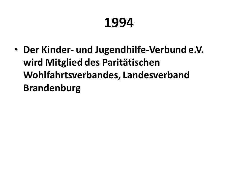1994 Der Kinder- und Jugendhilfe-Verbund e.V.