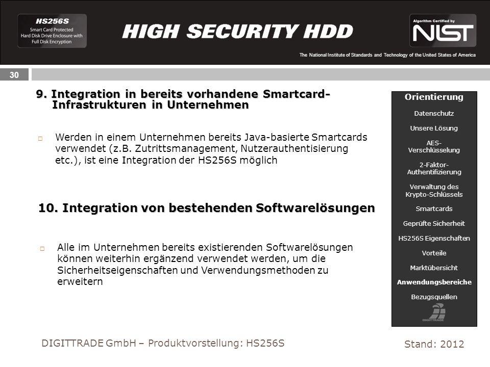 10. Integration von bestehenden Softwarelösungen