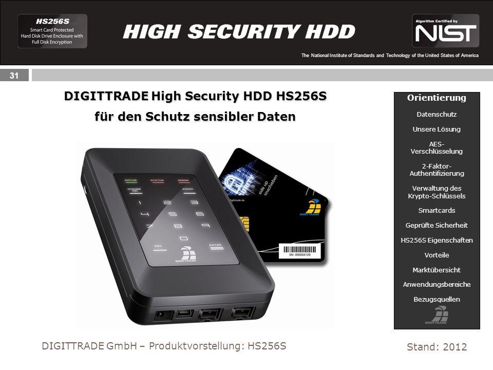 DIGITTRADE High Security HDD HS256S für den Schutz sensibler Daten