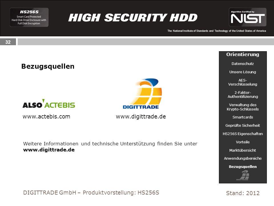 Bezugsquellen www.actebis.com www.digittrade.de