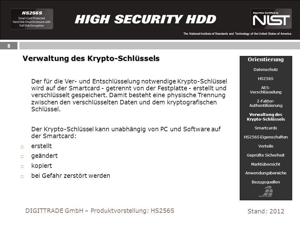 Verwaltung des Krypto-Schlüssels