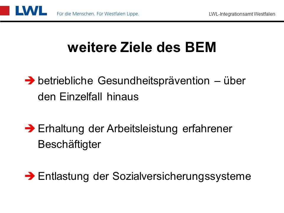 weitere Ziele des BEM betriebliche Gesundheitsprävention – über
