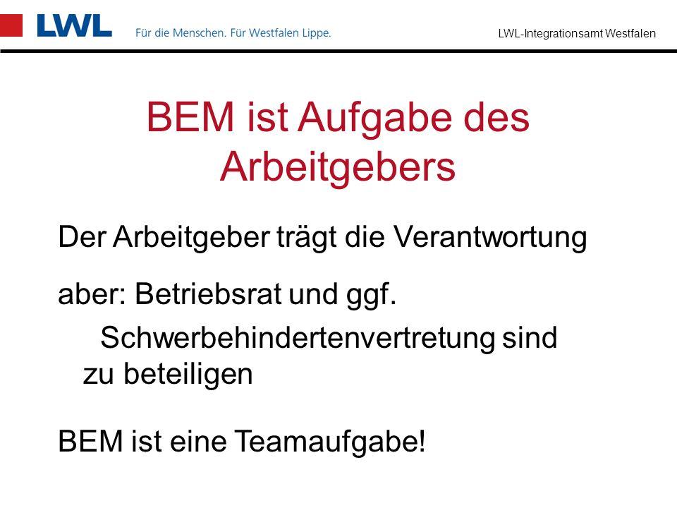 BEM ist Aufgabe des Arbeitgebers