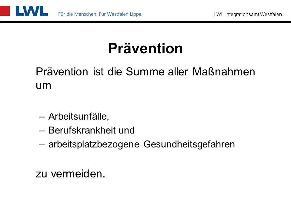 Prävention Prävention ist die Summe aller Maßnahmen um zu vermeiden.