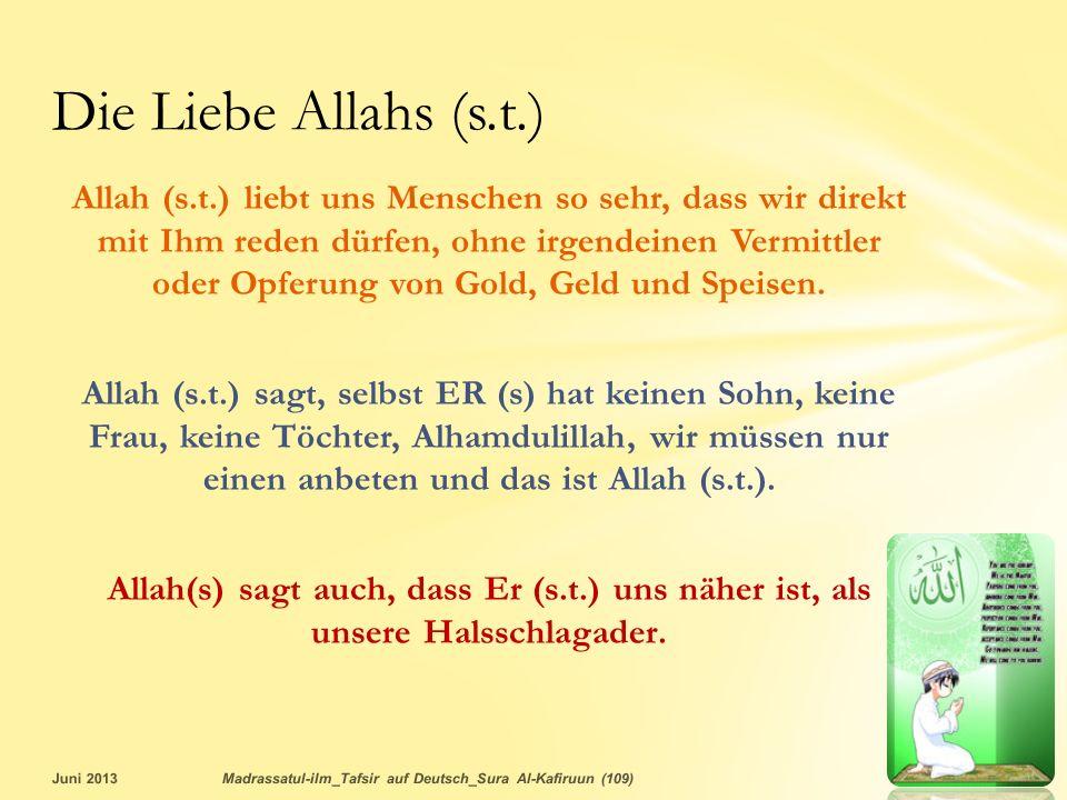 Die Liebe Allahs (s.t.)