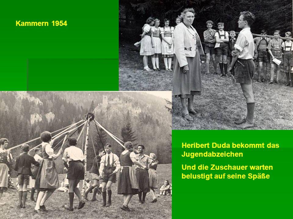 Kammern 1954 Heribert Duda bekommt das Jugendabzeichen.