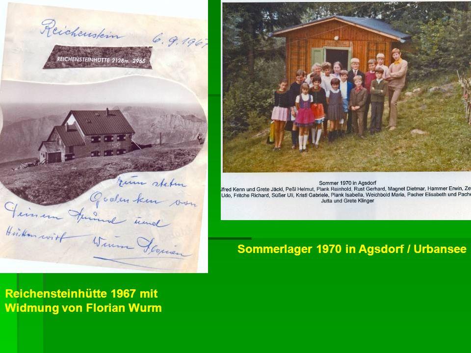 Sommerlager 1970 in Agsdorf / Urbansee