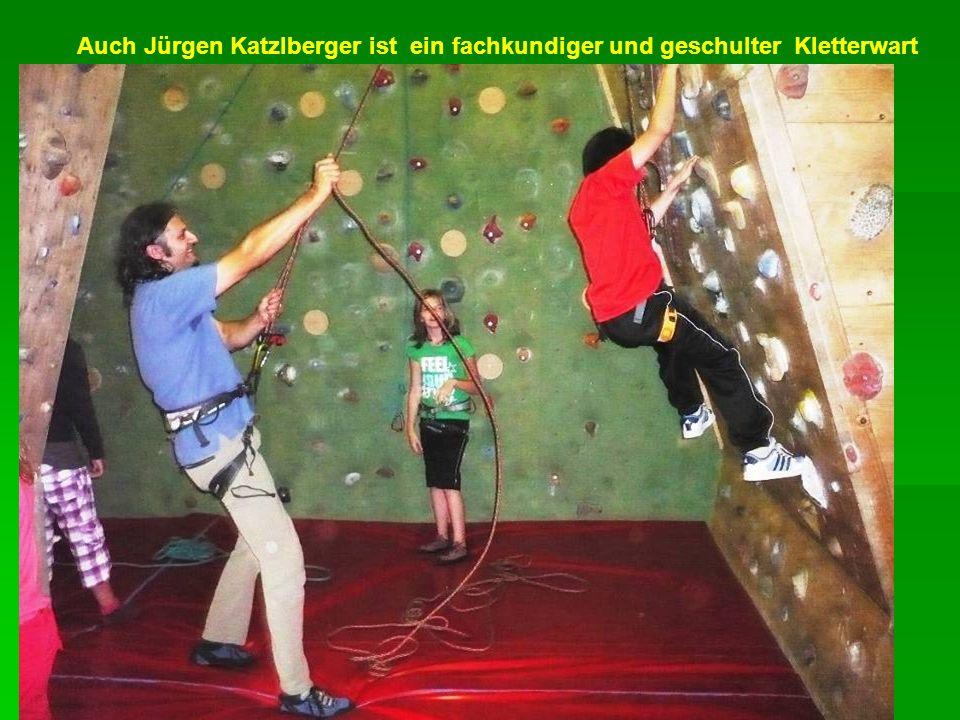 Auch Jürgen Katzlberger ist ein fachkundiger und geschulter Kletterwart