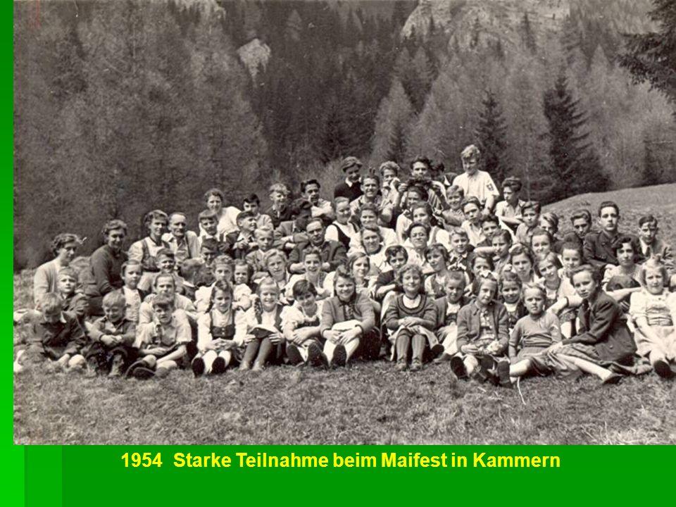 1954 Starke Teilnahme beim Maifest in Kammern