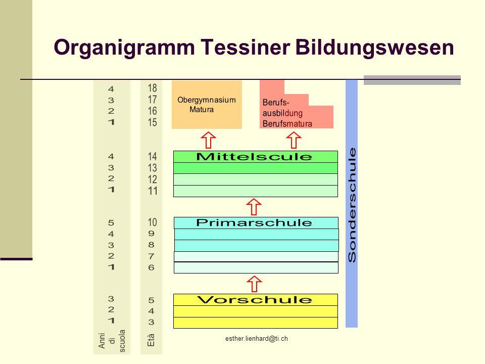 Organigramm Tessiner Bildungswesen
