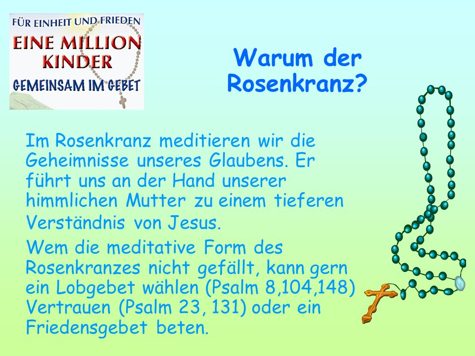 Warum der Rosenkranz