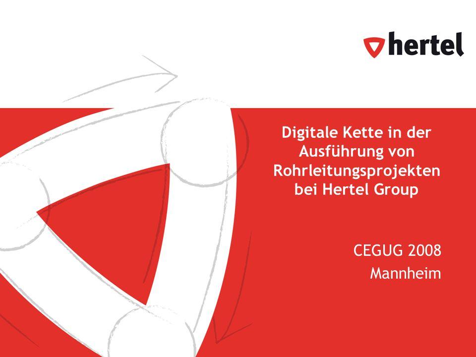 Digitale Kette in der Ausführung von Rohrleitungsprojekten bei Hertel Group