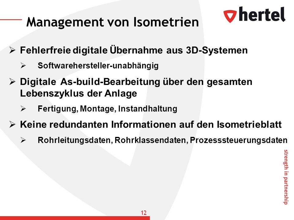 Management von Isometrien
