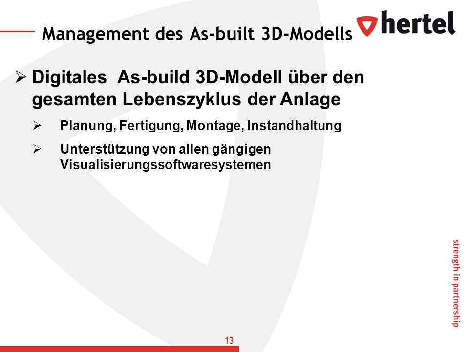 Management des As-built 3D-Modells