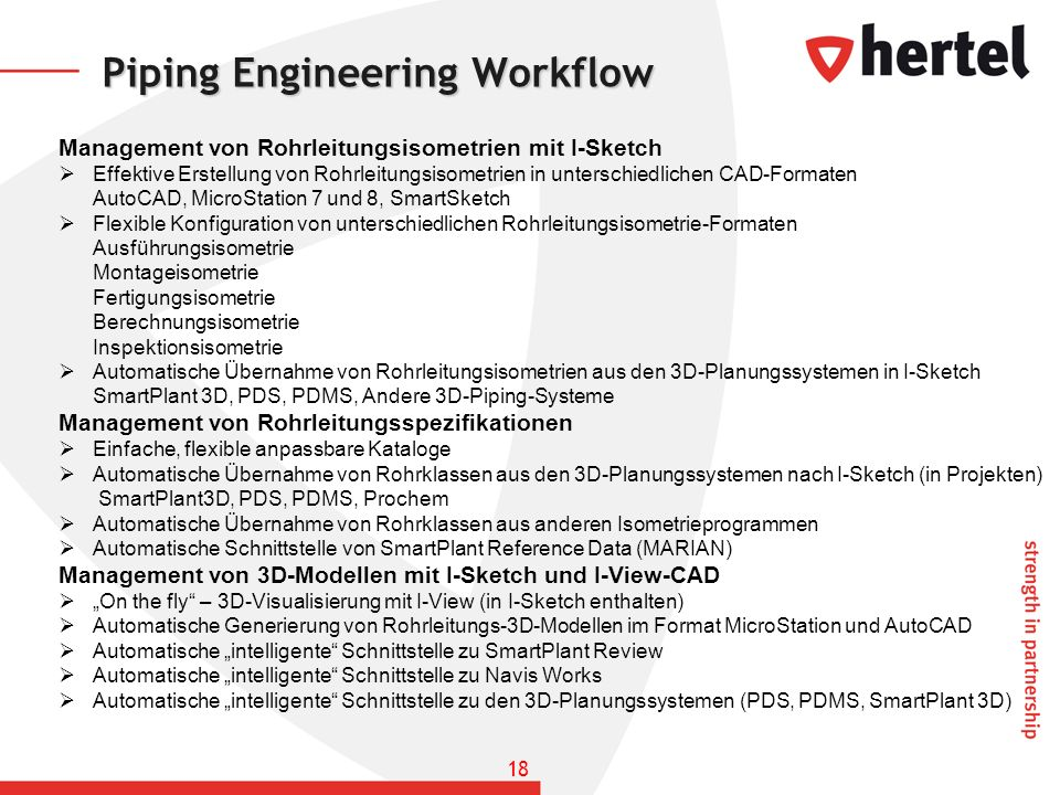 Piping Engineering Workflow