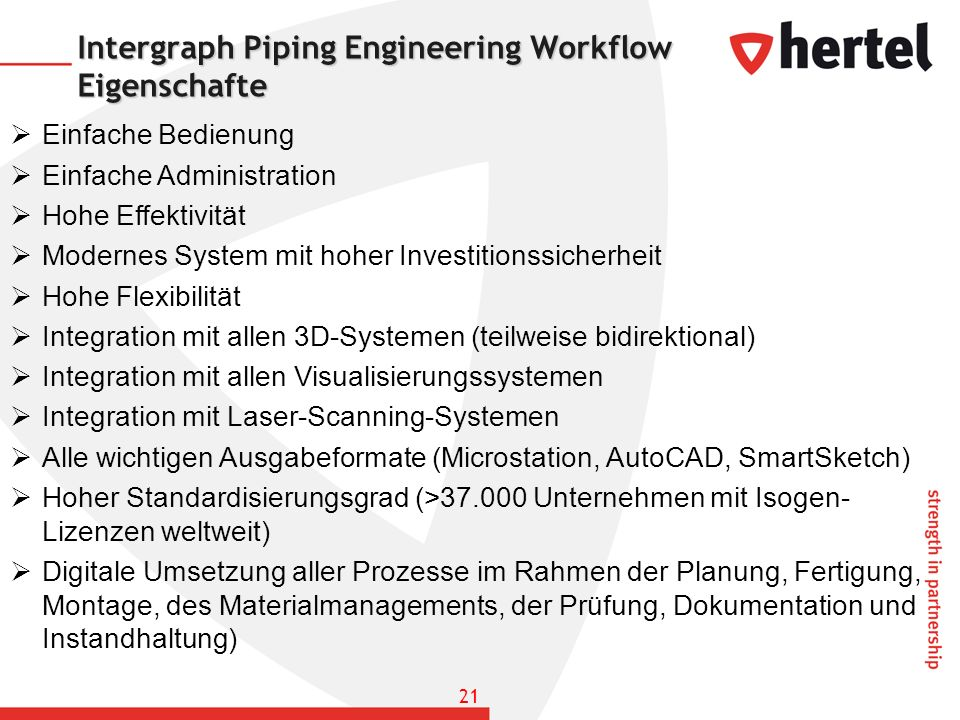 Intergraph Piping Engineering Workflow Eigenschafte