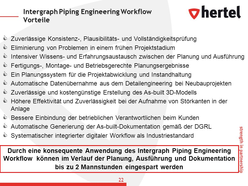 Intergraph Piping Engineering Workflow Vorteile