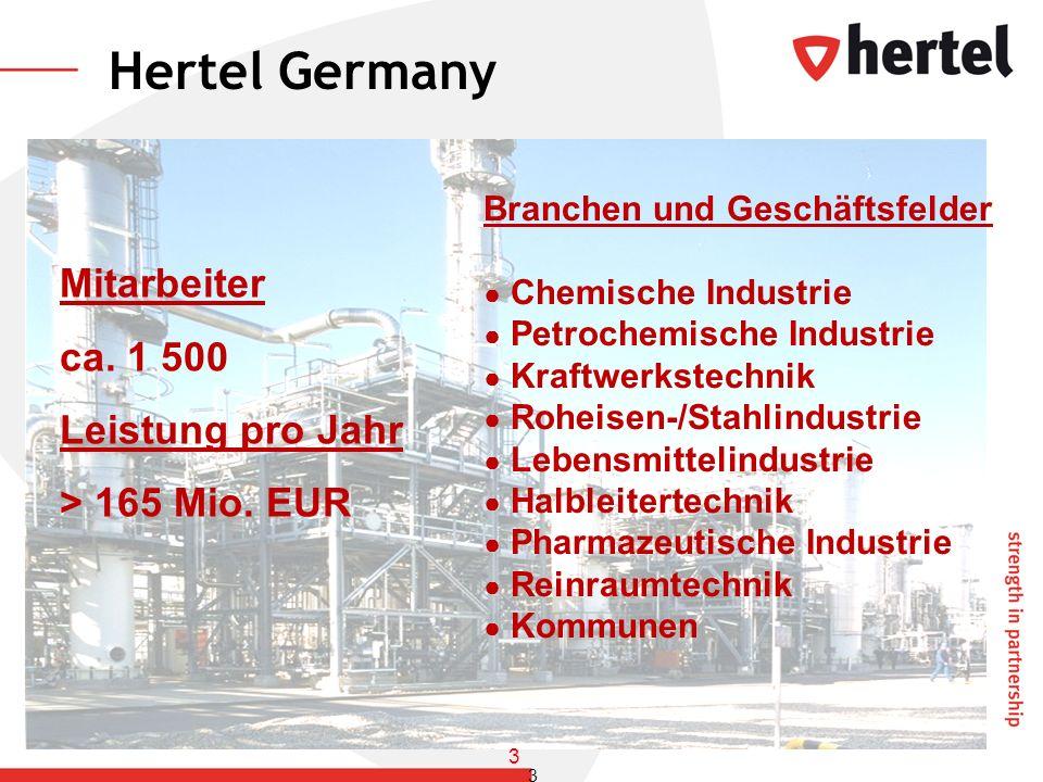 Hertel Germany Mitarbeiter ca. 1 500 Leistung pro Jahr