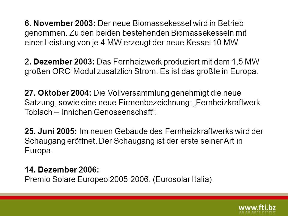 14. Dezember 2006: Premio Solare Europeo 2005-2006. (Eurosolar Italia)