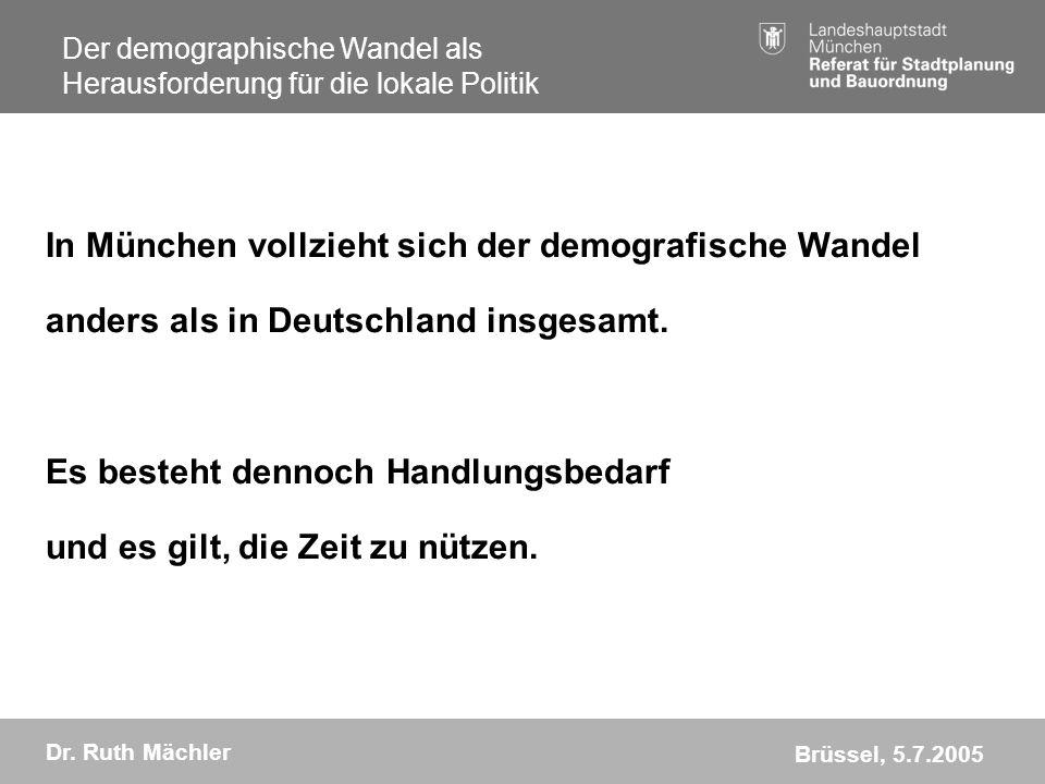 In München vollzieht sich der demografische Wandel