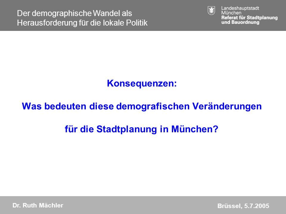 Konsequenzen: Was bedeuten diese demografischen Veränderungen für die Stadtplanung in München