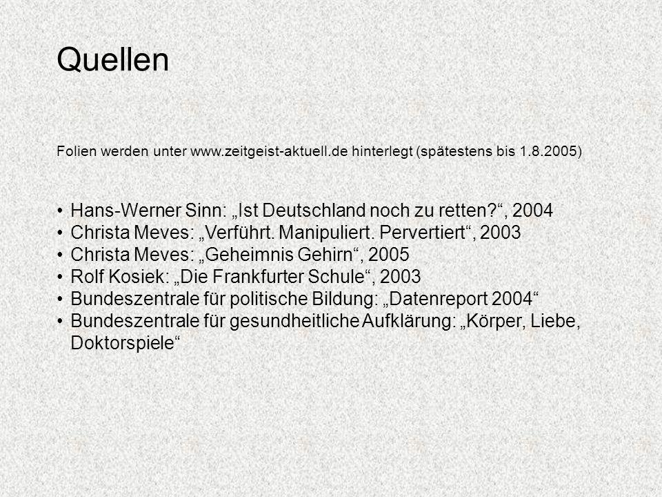 """Quellen Hans-Werner Sinn: """"Ist Deutschland noch zu retten , 2004"""