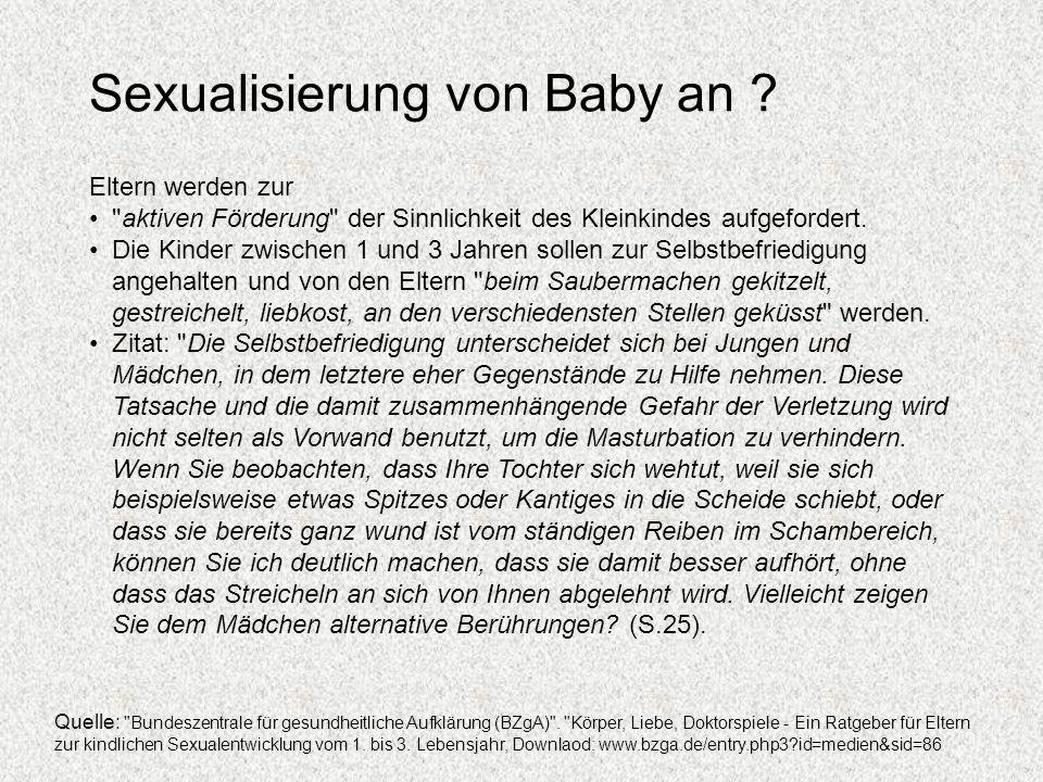Sexualisierung von Baby an