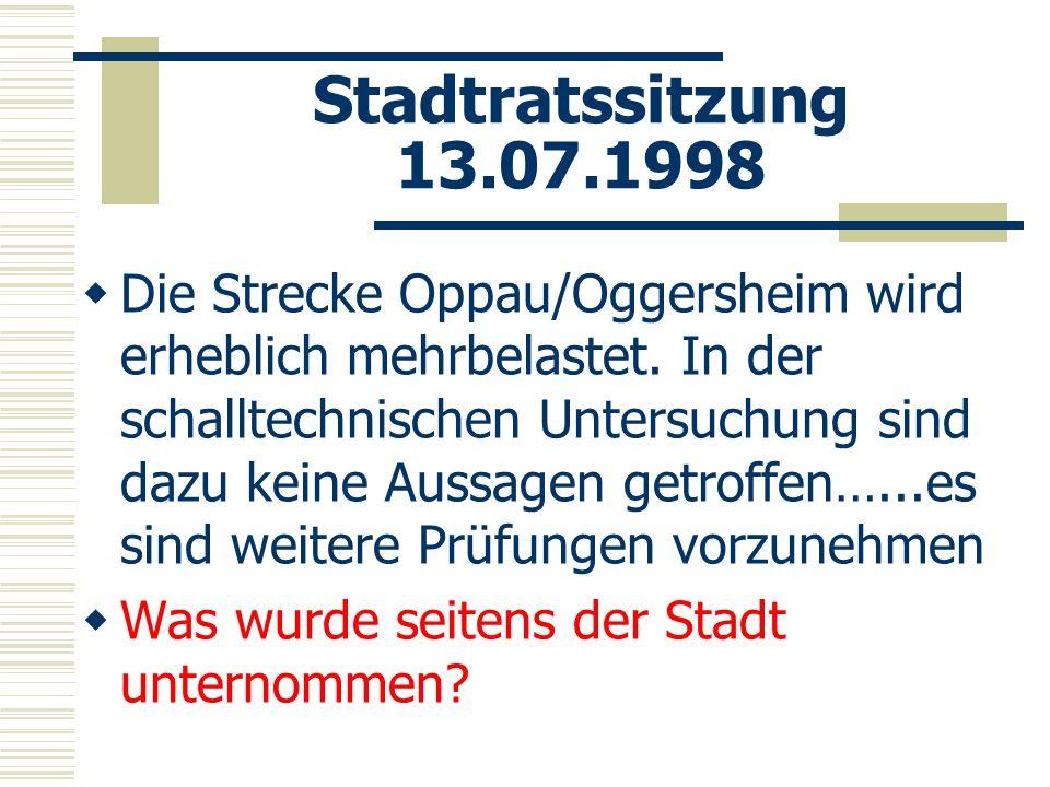 Stadtratssitzung 13.07.1998