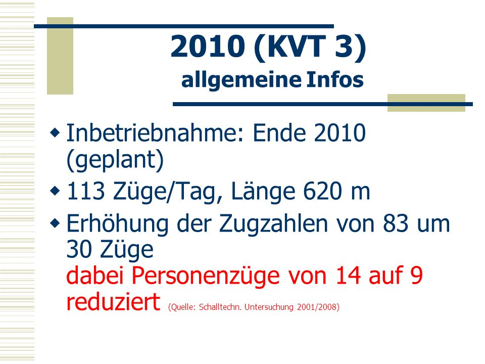 2010 (KVT 3) allgemeine Infos