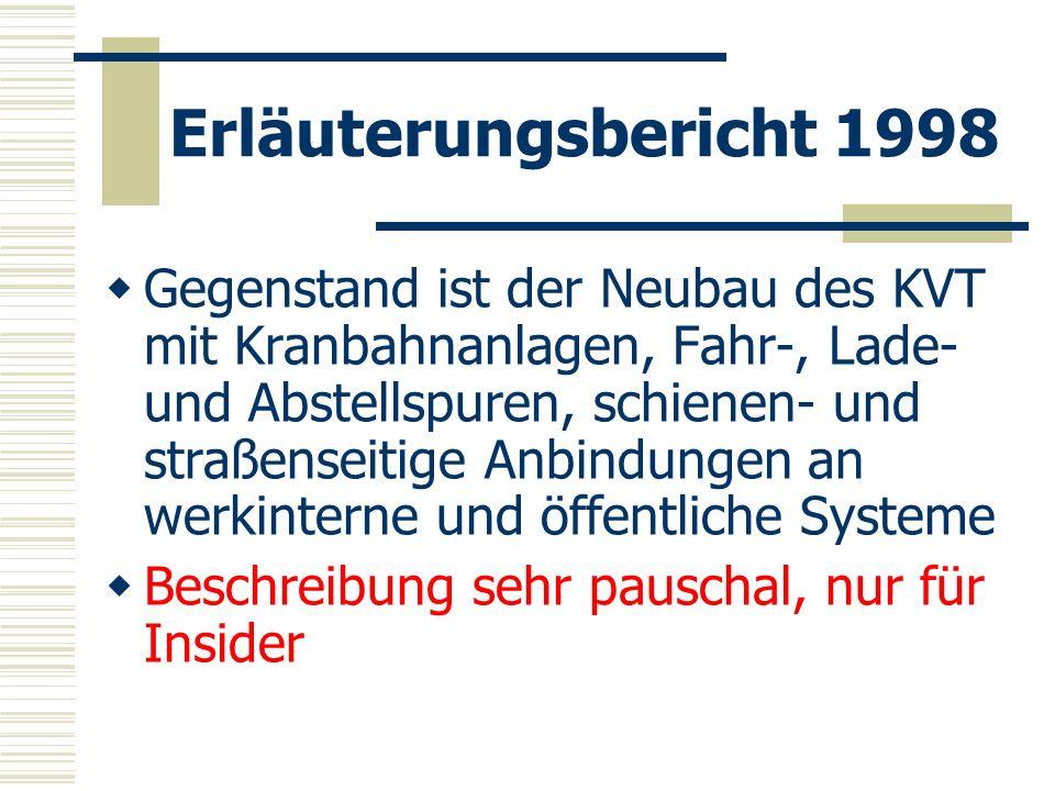 Erläuterungsbericht 1998