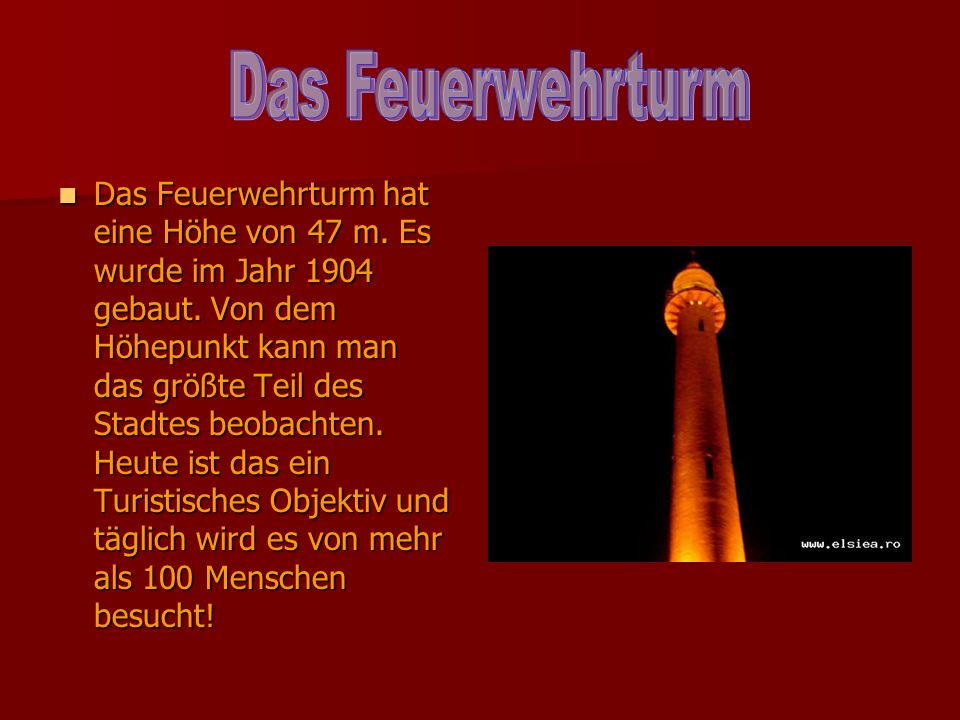 Das Feuerwehrturm