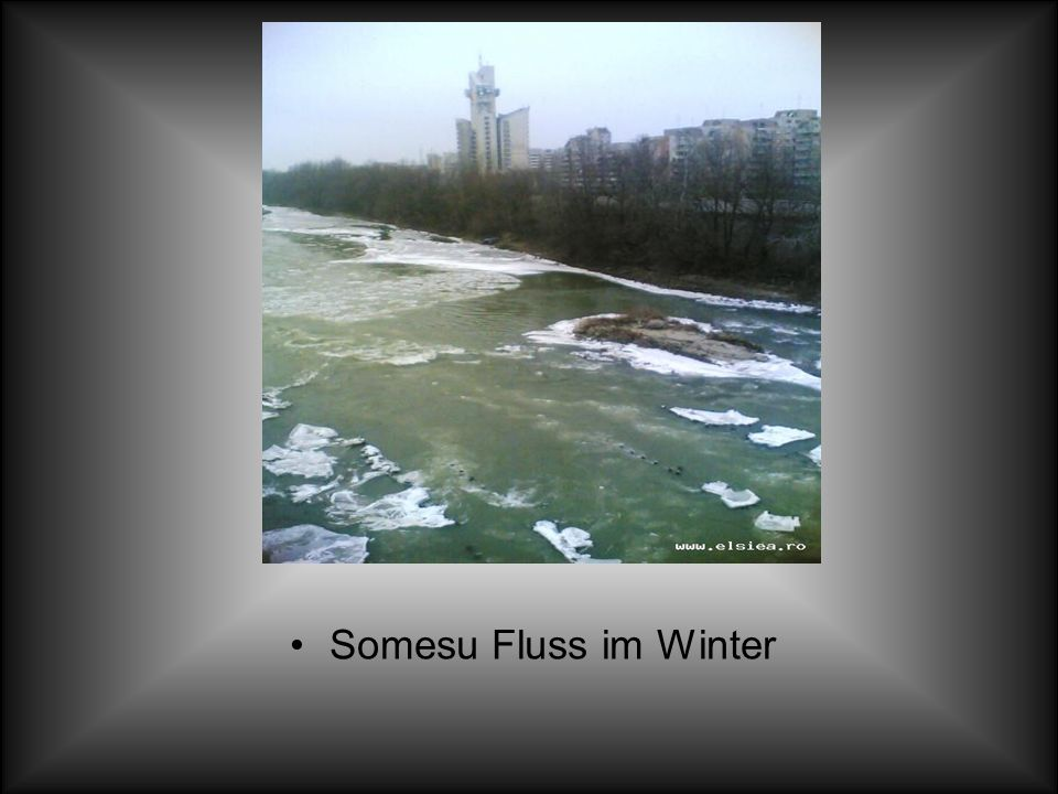 Somesu Fluss im Winter
