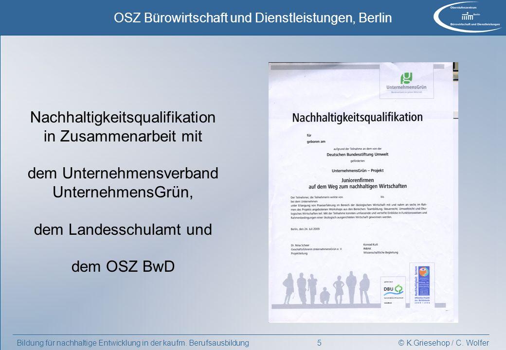 Nachhaltigkeitsqualifikation in Zusammenarbeit mit