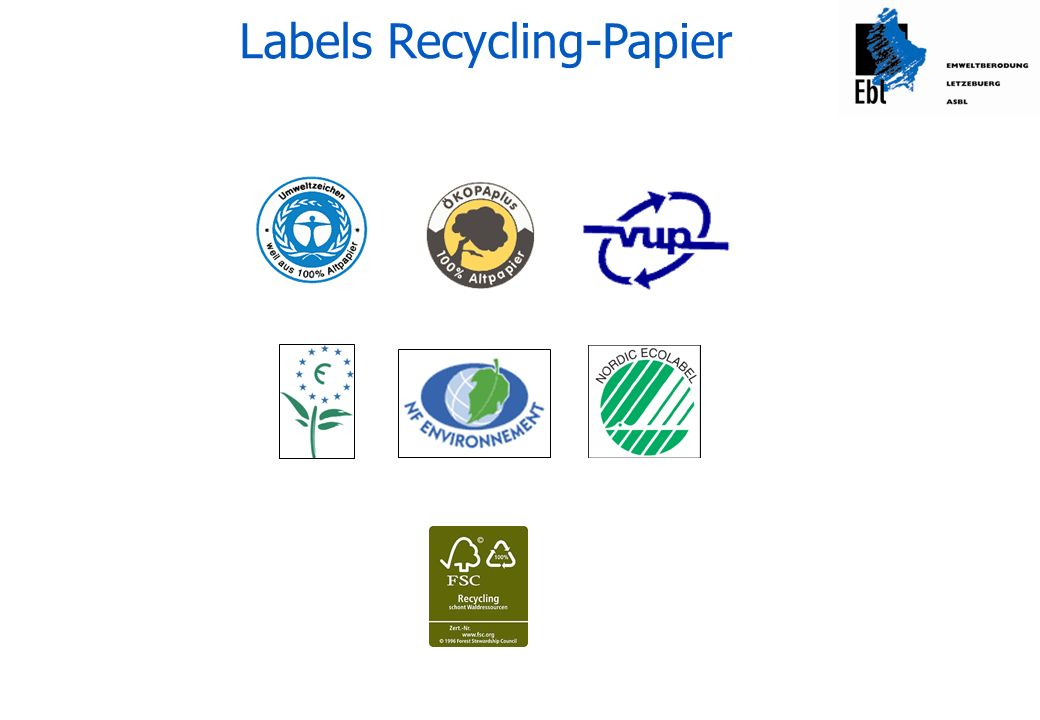 Labels Recycling-Papier