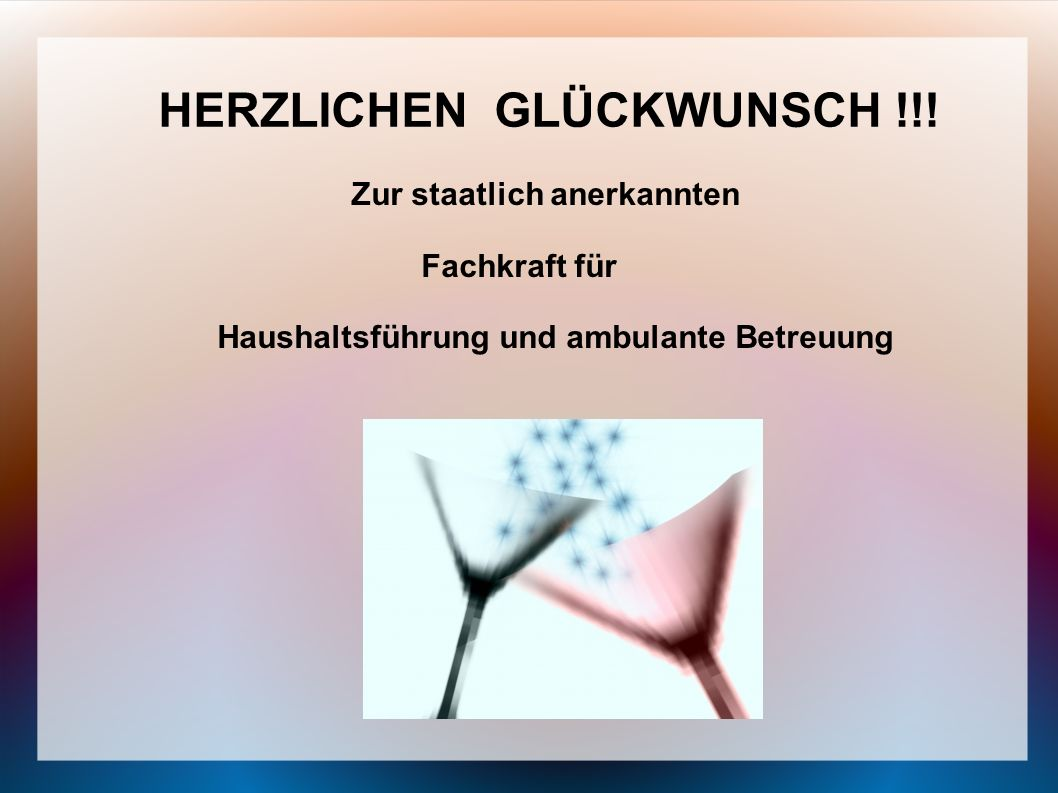 HERZLICHEN GLÜCKWUNSCH !!!