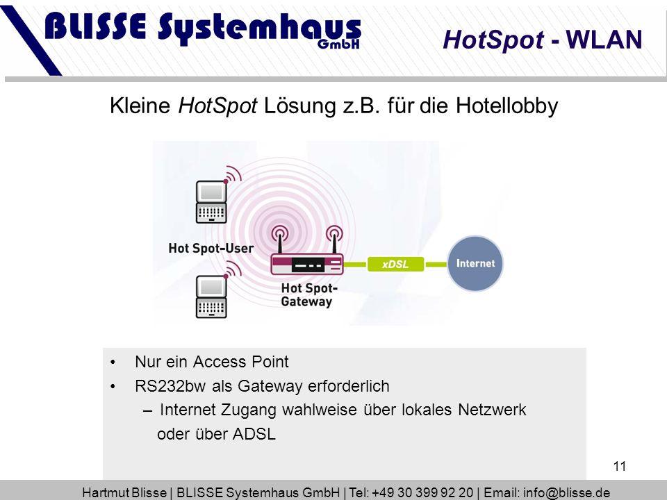 Kleine HotSpot Lösung z.B. für die Hotellobby