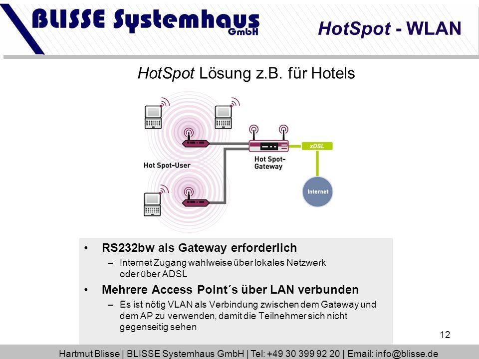 HotSpot Lösung z.B. für Hotels